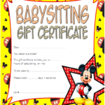 Babysitting Gift Certificate Template 3 FREE