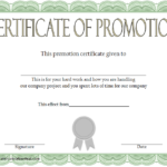 Certificate Of Job Promotion Template FREE 1