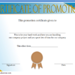 Certificate Of Job Promotion Template FREE 2
