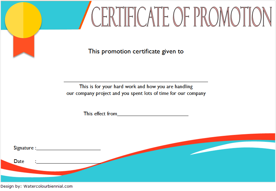 Certificate Of Job Promotion Template FREE 3