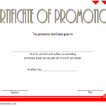Certificate Of Job Promotion Template FREE 4