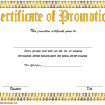 Certificate Of Job Promotion Template FREE 5
