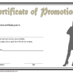 Certificate Of Job Promotion Template FREE 6