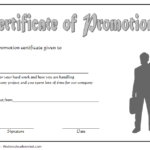 certificate of job promotion, job promotion certificate template, printable promotion certificate templates