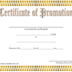 Certificate Of School Promotion Template 2 FREE
