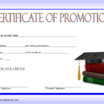 Certificate Of School Promotion Template 5 FREE