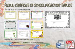 Certificate of School Promotion: 10+ Fresh Template Ideas