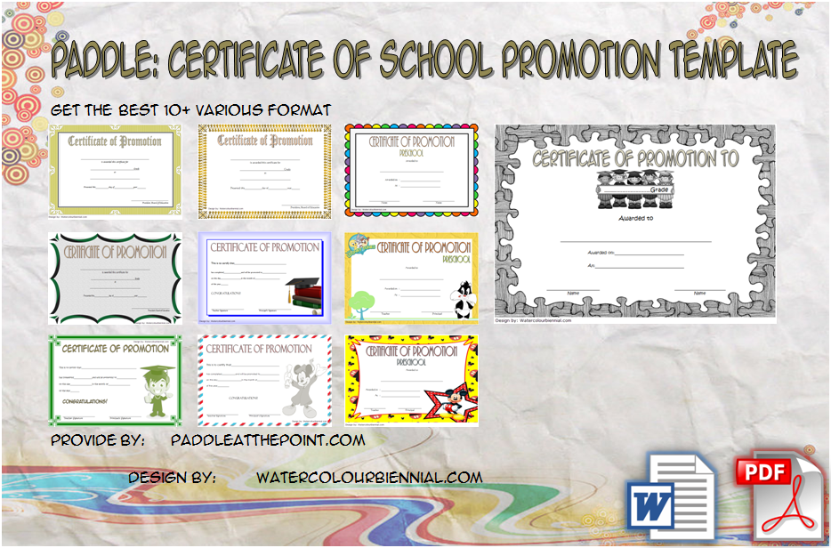 Certificate Of School Promotion Template Ideas FREE By Paddle