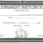 Chess Tournament Participation Certificate Template FREE 4