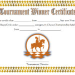 Chess Tournament Winner Certificate Template FREE 2