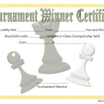 Chess Tournament Winner Certificate Template FREE 3