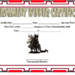 Chess Tournament Winner Certificate Template FREE 4