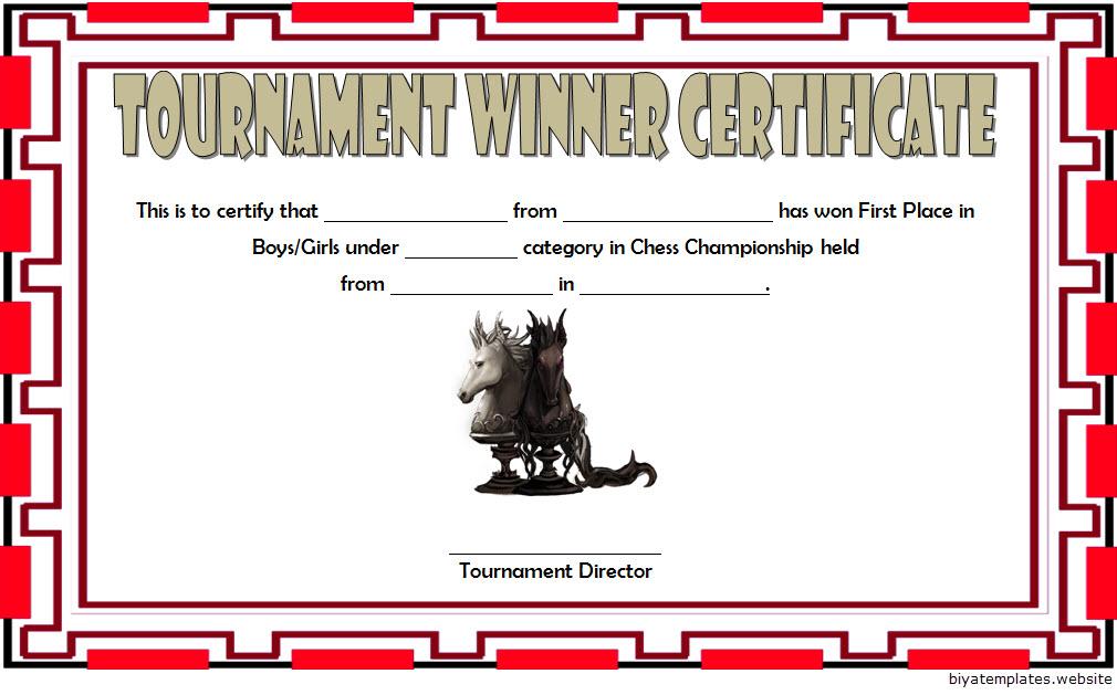 Chess Tournament Winner Certificate Template FREE 4