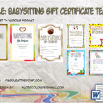 Free Printable Babysitting Gift Certificate Template By Paddle
