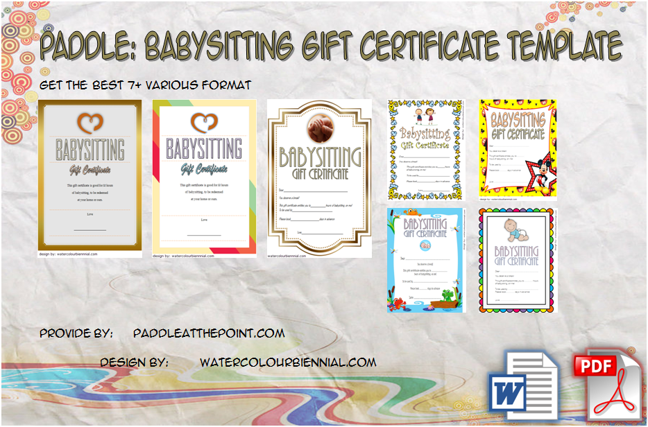 photograph about Free Printable Babysitting Coupons known as Absolutely free Printable Babysitting Reward Certification Template as a result of
