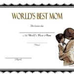 Worlds Best Mom Certificate Template FREE 1