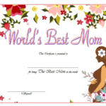 Worlds Best Mom Certificate Template FREE 6
