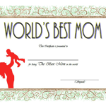 Worlds Best Mom Certificate Template FREE 7
