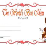 Worlds Best Mom Certificate Template FREE 8