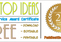 2020 Years of Service Certificate Template Free by Paddle