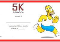 5K Race Certificate Template 1