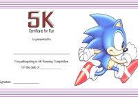 5K Race Certificate Template 2