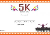 5K Race Certificate Template 3