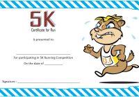 5K Race Certificate Template
