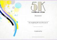 5K Race Certificate Template 4