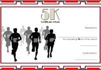5K Race Certificate Template 6