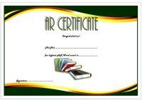 AR Certificate Template 2