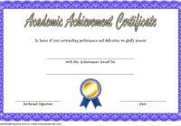 Academic Achievement Certificate Template 1