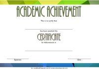Academic Achievement Certificate Template 10