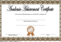 Academic Achievement Certificate Template 2
