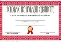 Academic Achievement Certificate Template 3