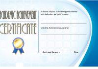 Academic Achievement Certificate Template 4