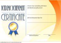 Academic Achievement Certificate Template 5