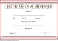 Academic Achievement Certificate Template 6