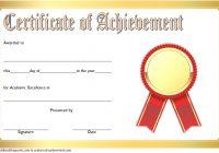 Academic Achievement Certificate Template 9
