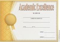 Academic Excellence Certificate Template 1