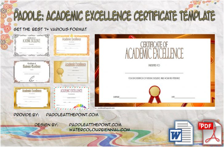 Permalink to Academic Excellence Certificate – FREE 7+ Template Ideas