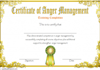 Anger Management Certificate Template 10
