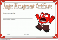 Anger Management Certificate Template 3