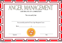 Anger Management Certificate Template 4