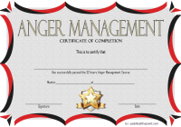 Anger Management Certificate Template 6