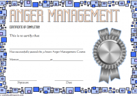 Anger Management Certificate Template 7