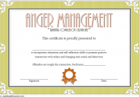 Anger Management Certificate Template 8
