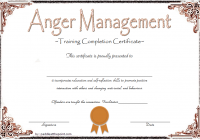 Anger Management Certificate Template 9