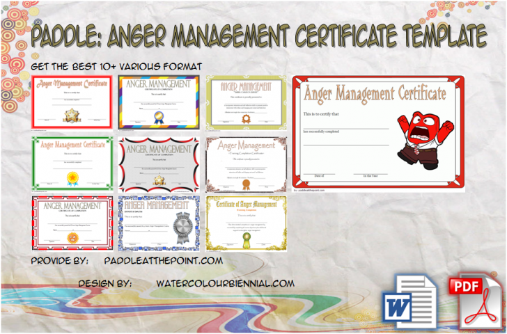 Permalink to Anger Management Certificate Template: 10+ Fresh Designs