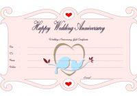 Anniversary Gift Certificate 1